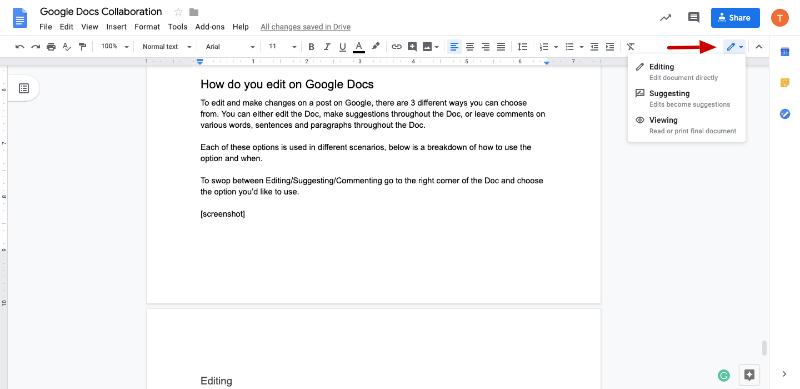 google docs live editing