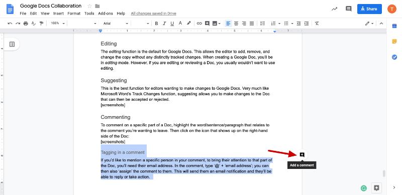 collaborative google docs